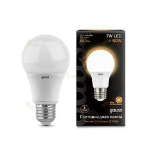 Лампа светодиодная Gauss LED A60 Globe E27 7W 2700K