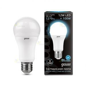 Gauss LED A60 Globe E27 12W 4100K