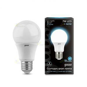 Gauss LED A60 Globe E27 7W 4100K
