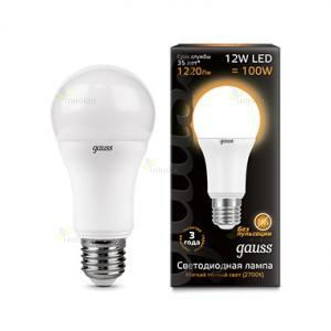 Gauss LED A60 Globe E27 12W 2700K